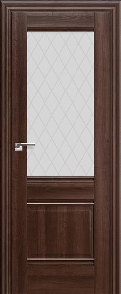Межкомнатная дверь  2Х матовое ромб 800*2000 Орех сиена серия ProfilDoors серия X Классика из экошпона   - Апис плюс