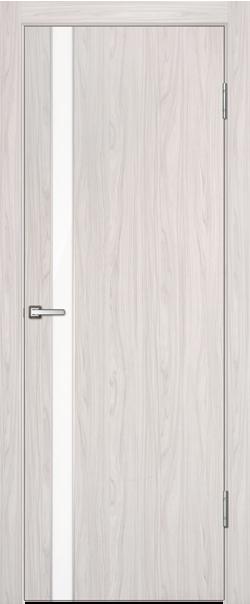 Межкомнатная дверь  Лотос ДГ белый лак 800*2000 Белый дуб серия Техно из МДФ    - Апис плюс