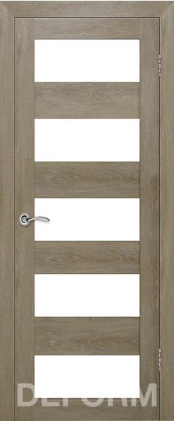 Межкомнатная дверь  D12 DEFORM ДО матовое 800*2000 Дуб шале натуральный серия DEFORM Серия D из экошпона   - Апис плюс