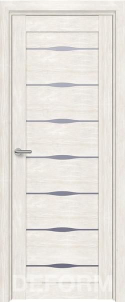 Межкомнатная дверь  D3 DEFORM ДО матовое 800*2000 Дуб шале снежный серия DEFORM Серия D из экошпона   - Апис плюс