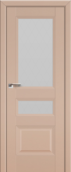 Межкомнатная дверь  68U стекло ромб 800 Капучино Сатинат серия U Классика из экошпона   - Апис плюс