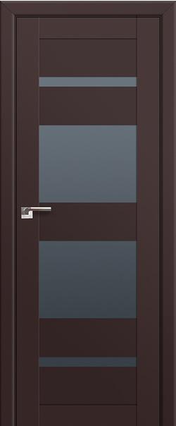 Межкомнатная дверь  72U графит 800 Темно-коричневый серия ProfilDoors серия U Модерн из экошпона   - Апис плюс