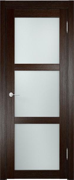 Межкомнатная дверь  Баден (02) 800*2000 Темный дуб серия Eldorf из экошпона   - Апис плюс