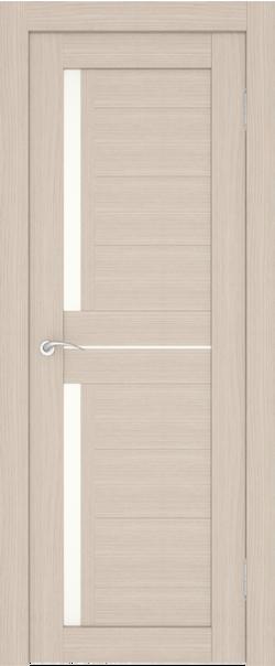 Межкомнатная дверь  S7 ДО 800*2000 Беленый дуб серия Сити из экошпона   - Апис плюс