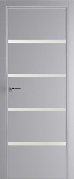 Межкомнатная дверь  20 E белый лак 800 Манхэттен (кромка матовая) AGB Eclipse серия E из экошпона   - Апис плюс