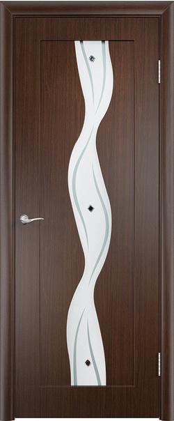 Межкомнатная дверь  Вираж ДО 800*2000 Венге серия Стандарт из ПВХ    - Апис плюс