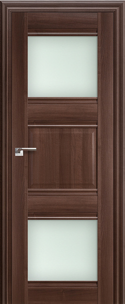 Межкомнатная дверь  6Х матовое 800*2000 Орех сиена серия ProfilDoors серия X Классика из экошпона   - Апис плюс