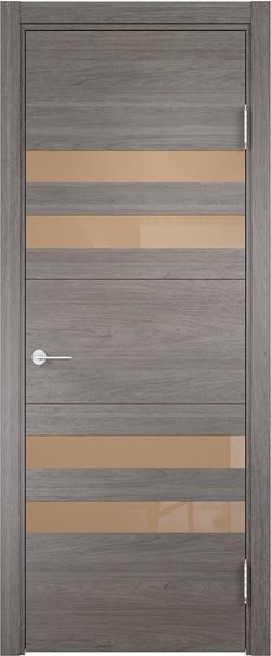 Межкомнатная дверь  Турин (10) мокко 800*2000 Дуб шервуд вералинга серия Турин из экошпона   - Апис плюс