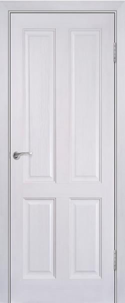 Межкомнатная дверь  Модель №15 ДГ 800*2000 Белый лоск серия Массив сосны    - Апис плюс