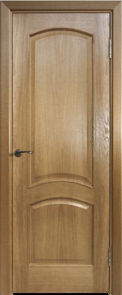 Межкомнатная дверь  Капри-3 ДГ 800*2000 Дуб натуральный серия Премиум из шпона    - Апис плюс
