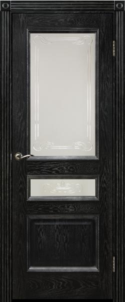 Межкомнатная дверь  ДО Вена 700 №7+7.1 Эмаль черная РАСПРОДАЖА серия Премиум из шпона    - Апис плюс