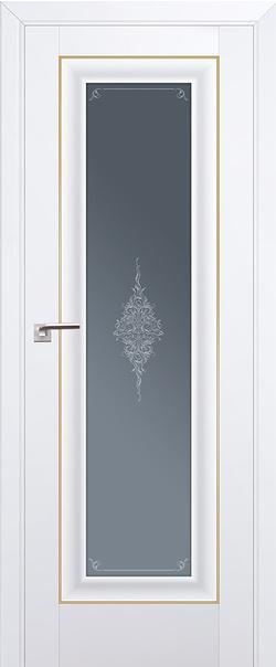 Межкомнатная дверь  24U графит кристалл 800*2000 Аляска золото серия ProfilDoors серия U Классика из экошпона   - Апис плюс
