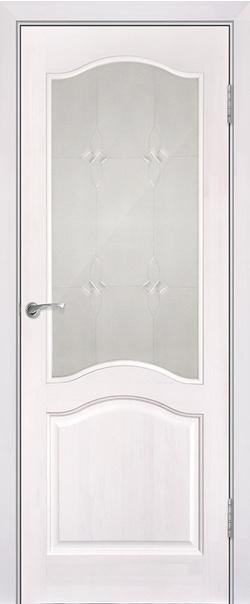 Межкомнатная дверь  Модель №7 (без рамки) ДО 800*2000 Белый лоск серия Массив сосны    - Апис плюс
