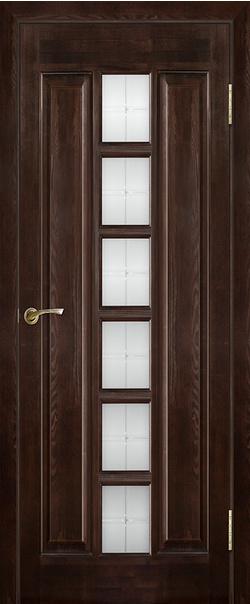 Межкомнатная дверь  Модель №11 ДО 800*2000 Темный лак серия Массив сосны    - Апис плюс
