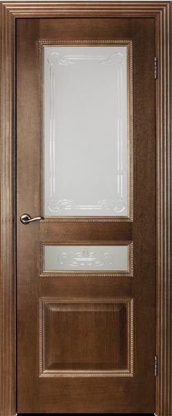 Межкомнатная дверь  ДО Вена 800 №7+7.1 Каштан серия Премиум из шпона    - Апис плюс