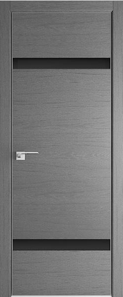 Межкомнатная дверь  3ZN черный лак 800*2000 Грувд матовая с 4-х сторон Eclipse 190 серия ProfilDoors серия ZN Модерн из экошпона   - Апис плюс