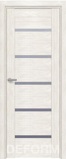 Межкомнатная дверь  D11 DEFORM ДО матовое 800*2000 Дуб шале снежный серия DEFORM Серия D из экошпона   - Апис плюс