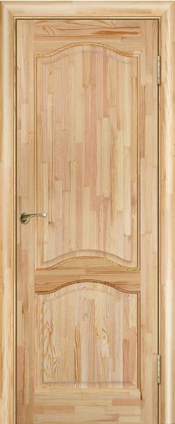 Межкомнатная дверь  Модель №7 ДГ н 800*2000 Неокрашенный серия Массив сосны    - Апис плюс