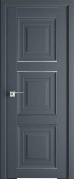 Межкомнатная дверь  96U 800*2000 Антрацит серебро серия ProfilDoors серия U Классика из экошпона   - Апис плюс