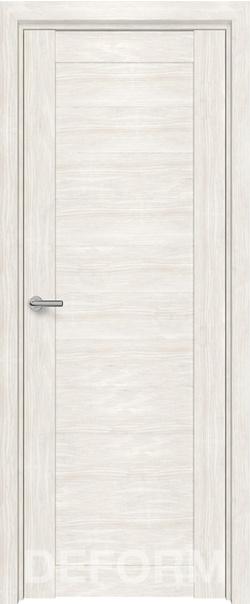 Межкомнатная дверь  D10 DEFORM ДГ 800*2000 Дуб шале снежный серия DEFORM Серия D из экошпона   - Апис плюс