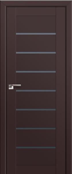 Межкомнатная дверь  71U графит 800 Темно-коричневый серия U Модерн из экошпона   - Апис плюс