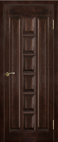 Межкомнатная дверь  Модель №11 ДГ 800*2000 Темный лак серия Массив сосны    - Апис плюс