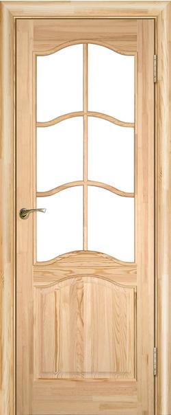 Межкомнатная дверь  Модель №7 ДО н 800*2000 Неокрашенный серия Массив сосны    - Апис плюс