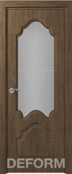 Межкомнатная дверь  Тулуза ДО матовое 800*2000 Дуб шале корица серия DEFORM Классика из экошпона   - Апис плюс