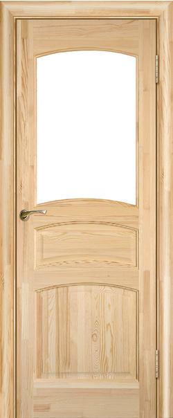 Межкомнатная дверь  Модель №16 ДО н 800*2000 Неокрашенный серия Массив сосны    - Апис плюс