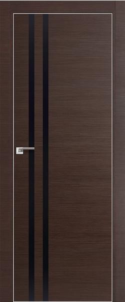 Межкомнатная дверь  19 Z черный глянец 800 Венге  кроскут кромка матовая РФ с 4 сторон  серия ProfilDoors серия Z из экошпона   - Апис плюс