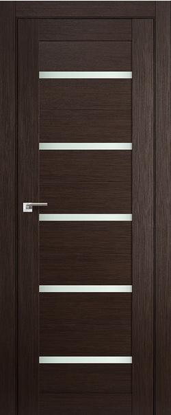 Межкомнатная дверь  7Х матовое 800*2000 Венге мелинга серия ProfilDoors серия X Модерн из экошпона   - Апис плюс