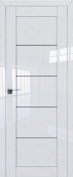 Межкомнатная дверь  2.11L графит 800*2000 Белый люкс серия ProfilDoors серия L глянец    - Апис плюс