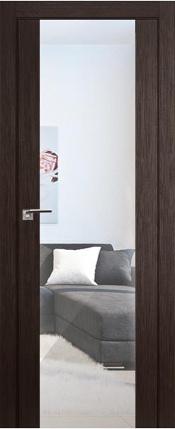 Межкомнатная дверь  8Х триплекс зеркальный 800*2000 Венге мелинга серия ProfilDoors серия X Модерн из экошпона   - Апис плюс