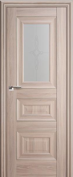Межкомнатная дверь  26Х матовое узор 800*2000 Орех пекан серебро серия ProfilDoors серия X Классика из экошпона   - Апис плюс