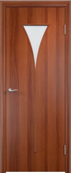 Межкомнатная дверь  С4 ДО 800*2000 Итальянский орех серия Ламинированные из МДФ    - Апис плюс