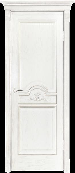 Межкомнатная дверь  Люкс ДГ 800*2000 Слоновая кость серия Премиум из шпона    - Апис плюс