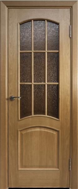 Межкомнатная дверь  Капри-3 ДО бронза №2 800*2000 Дуб натуральный серия Премиум из шпона    - Апис плюс
