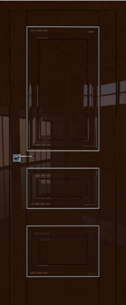 Межкомнатная дверь  25L 800*2000 Терра серебро серия ProfilDoors серия L глянец    - Апис плюс