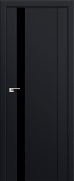 Межкомнатная дверь  62U черный лак 800*2000 Черный матовый серия ProfilDoors серия U Модерн из экошпона   - Апис плюс