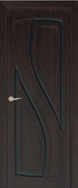 Межкомнатная дверь  ДГ Лаура 800 Мореный дуб серия Стандарт из шпона    - Апис плюс