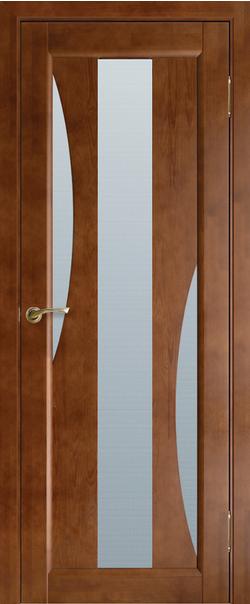 Межкомнатная дверь  Модель №5 ДО 800.1*2000 Орех серия Массив сосны    - Апис плюс