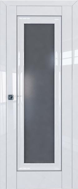 Межкомнатная дверь  24L графит 800*2000 Белый люкс серебро серия ProfilDoors серия L глянец    - Апис плюс
