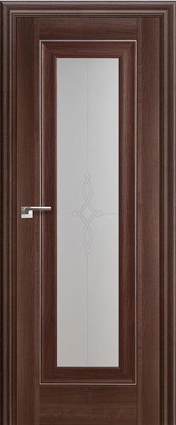 Межкомнатная дверь  24 Х  узор 800 Орех сиена серия ProfilDoors серия X Классика из экошпона   - Апис плюс