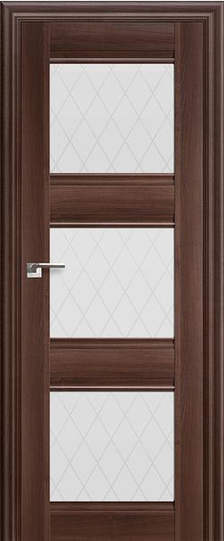 Межкомнатная дверь  4Х матовое ромб 800*2000 Орех сиена серия ProfilDoors серия X Классика из экошпона   - Апис плюс