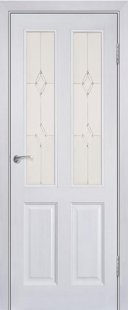 Межкомнатная дверь  Модель №15 ДО 800*2000 Белый лоск серия Массив сосны    - Апис плюс