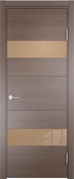 Межкомнатная дверь  Турин (15) мокко 800*2000 Дуб фремонт вералинга серия Турин из экошпона   - Апис плюс
