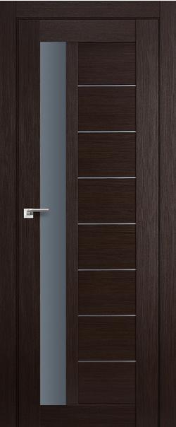 Межкомнатная дверь  37Х графит 800*2000 Венге мелинга серия ProfilDoors серия X Модерн из экошпона   - Апис плюс
