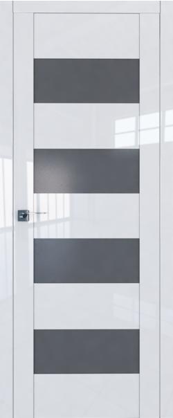 Межкомнатная дверь  46L графит 800*2000 Белый люкс серия ProfilDoors серия L глянец    - Апис плюс