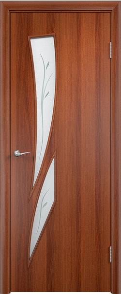 Межкомнатная дверь  С2 ДО (ф) 800*2000 Итальянский орех серия Ламинированные из МДФ    - Апис плюс