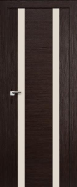 Межкомнатная дверь  63 Х перламутровый 800 Венге мелинга серия X Модерн из экошпона   - Апис плюс
